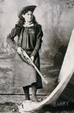 Annie Oakley with her gun