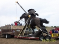 Setting the sculpture - 2004
